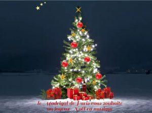 Le Madrigal de Paris vous souhaite un joyeux Noël en musique !