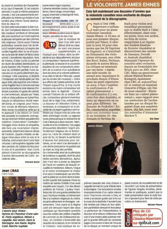 Article de presse sur Jean Cras