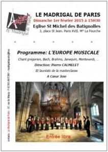 Affiche l'europe musicale