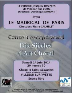 affiche concert villebon sur Yvette