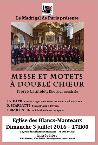 affiche concert ND Blancs manteaux 03 07 2016