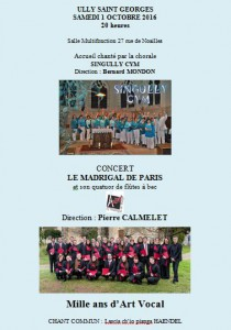 Concert Madrigal Ully St Georges